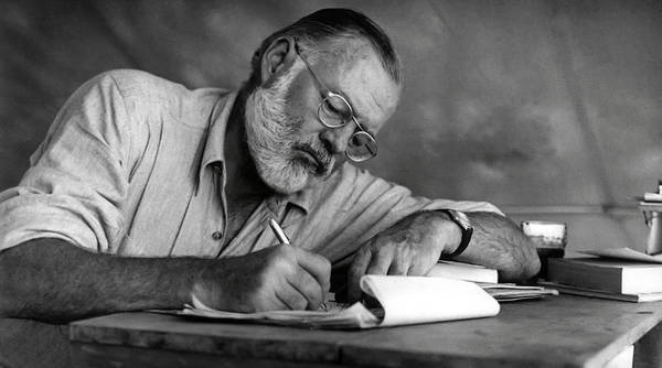 Wall Art - Photograph - Love Of Writing - Ernest Hemingway by Daniel Hagerman