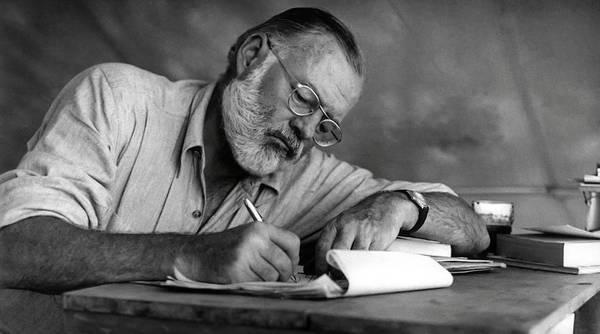 Love Of Writing - Ernest Hemingway Art Print