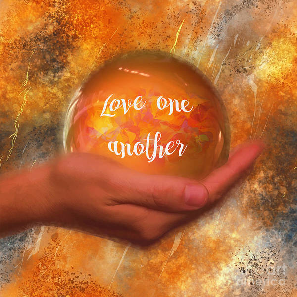Digital Art - Love One Another 2016 by Kathryn Strick