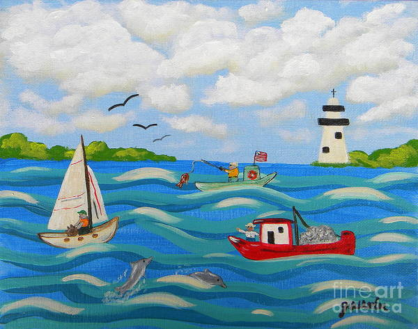 Wall Art - Painting - Love Our Gulf by JoAnn Wheeler