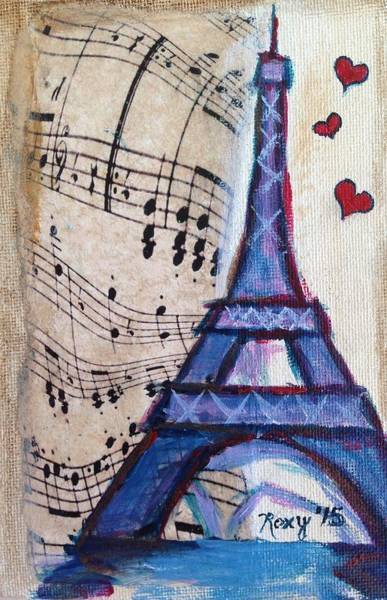 City Painting - Love Paris by Roxy Rich