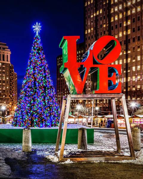 Photograph - Love Park Christmas  by Nick Zelinsky