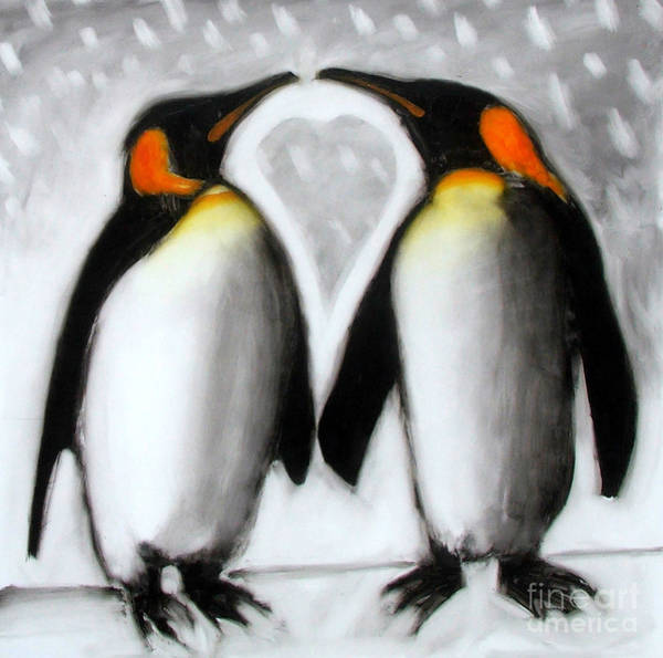 King Penguin Wall Art - Painting - Love by Paul Powis