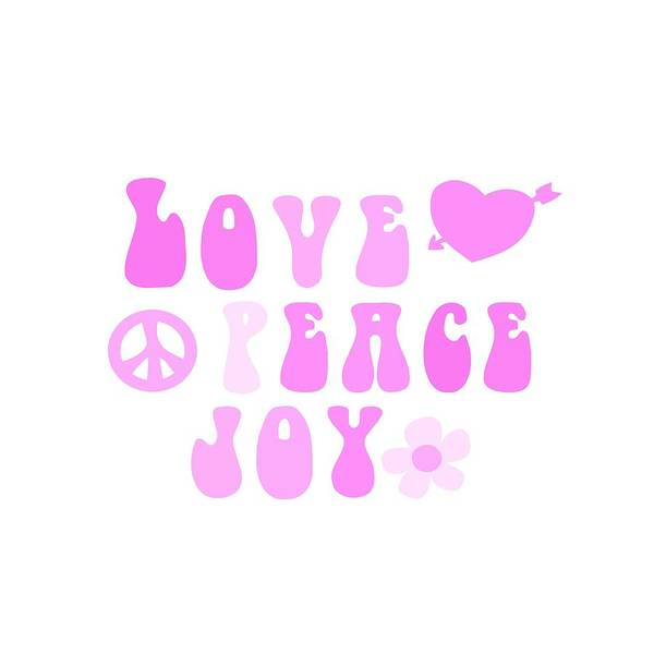 Psychedelic Image Painting - Love Peace And Joy 2 by Celestial Images