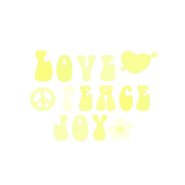 Psychedelic Image Painting - Love Peace And Joy 4 by Celestial Images
