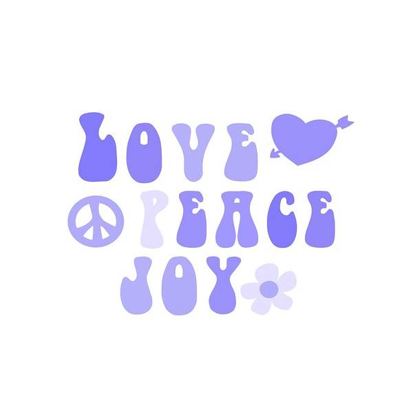 Psychedelic Image Painting - Love Peace And Joy 7 by Celestial Images