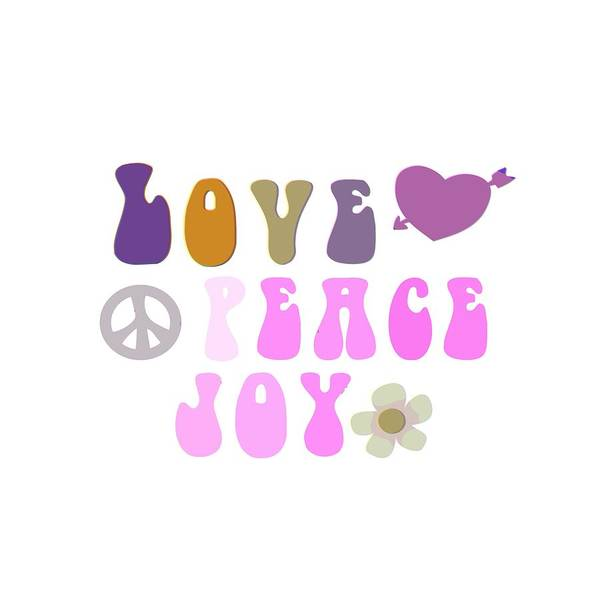 Psychedelic Image Painting - Love Peace And Joy 8 by Celestial Images