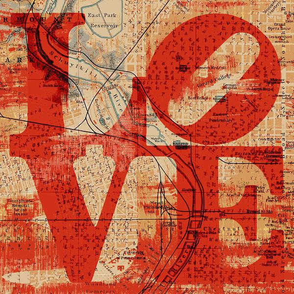 Brotherly Love Digital Art - Philly Love V2 by Brandi Fitzgerald