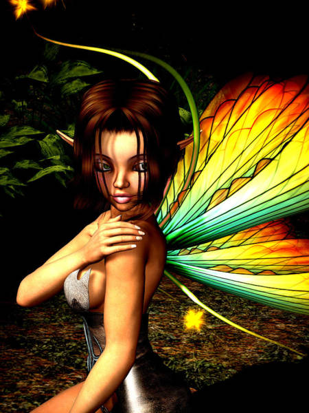 Mage Wall Art - Digital Art - Love Pixie 1 by Alexander Butler