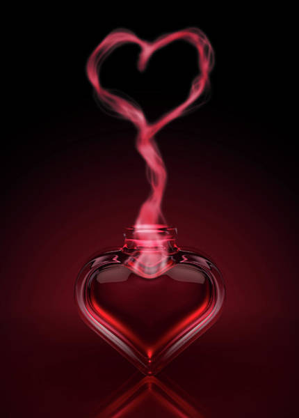 Wall Art - Digital Art - Love Potion And Heart Fumes by Allan Swart