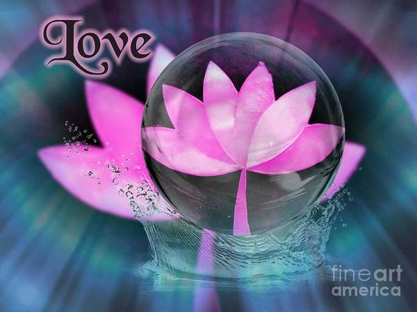 Digital Art - Love by Rachel Hannah