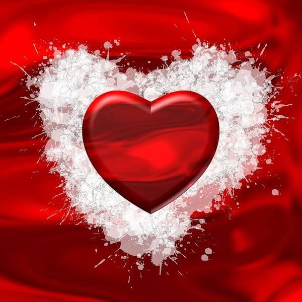 Digital Art - Love Red Passion by Alberto RuiZ