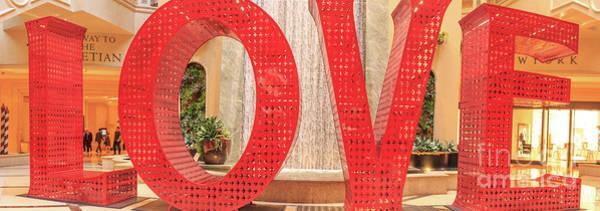 Desert Southwest Digital Art - Love Sculpure Las Vegas by Edward Fielding