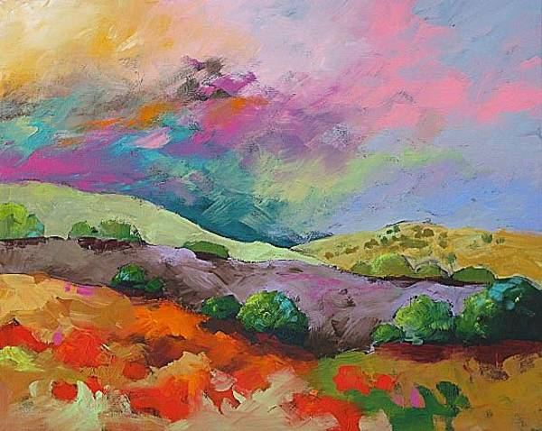 Fauve Painting - Love Shining Down by Linda Monfort