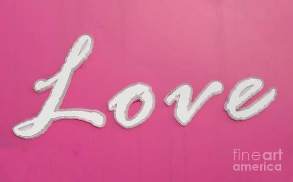 Cursive Photograph - Love Sign by Yali Shi