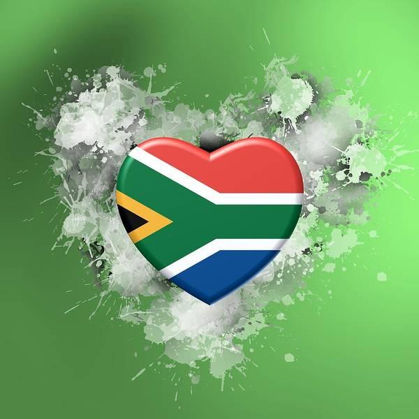 Digital Art - Love Southafrica Over Green Backlight by Alberto RuiZ