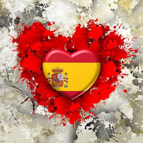 Digital Art - Love Spain 1 by Alberto RuiZ