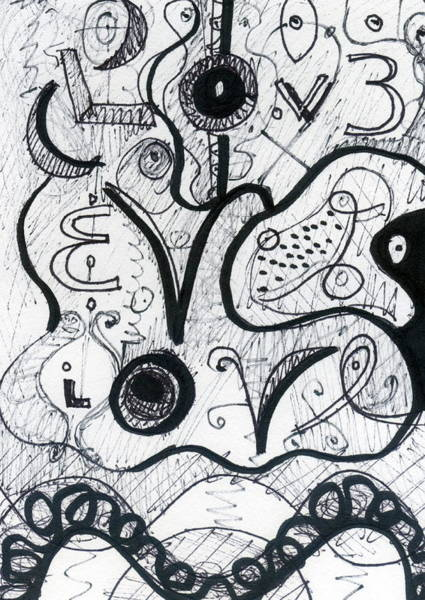 Drawing - Love by Stephen Lucas