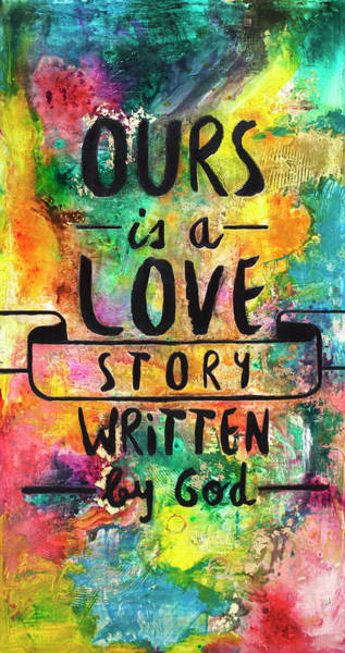 Wall Art - Painting - Love Story Written By God by Ivan Guaderrama
