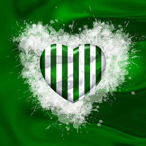 Digital Art - Love Stripes Green And White Over Green by Alberto RuiZ