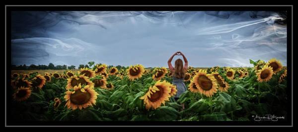 Wall Art - Photograph - Love Sunflowers by Brenda D Busskohl