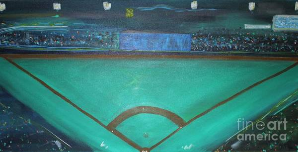 Hitter Painting - Love The Game by Ashton Keim