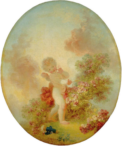 Painting - Love The Sentinel by Jean-Honore Fragonard