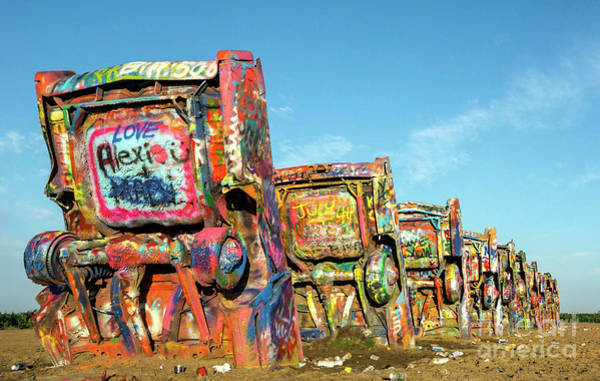Litter Photograph - Cadillac Ranch II by DiFigiano Photography