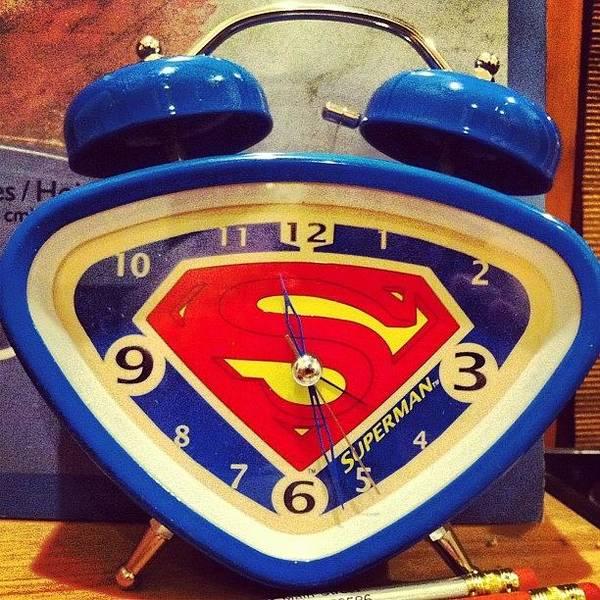 Superhero Wall Art - Photograph - Superman Clock by Joan McCool