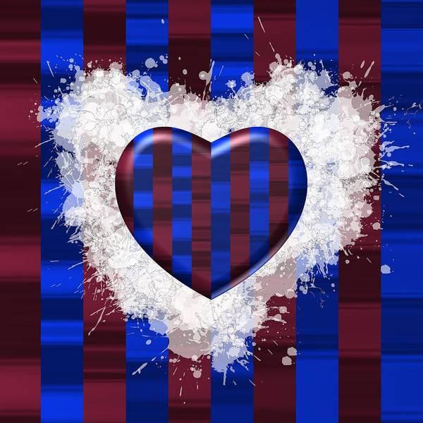 Digital Art - Love To Blue And Garnet Stripes by Alberto RuiZ