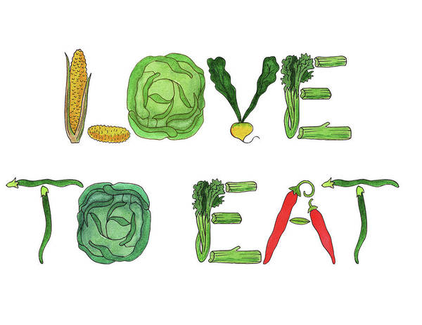 Painting - Love To Eat Food Illustration by Irina Sztukowski