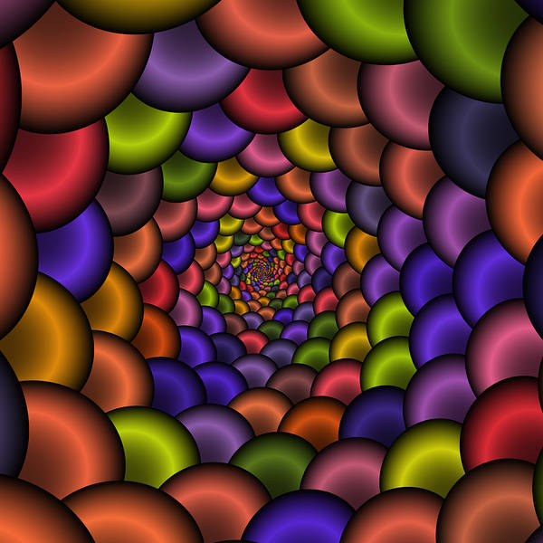 Digital Art - Love Tunnel 223 by Rolf Bertram