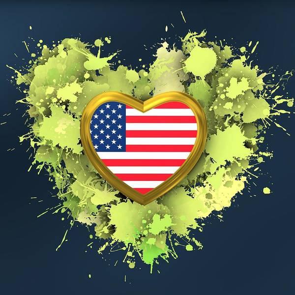 Digital Art - Love United States Of America by Alberto RuiZ
