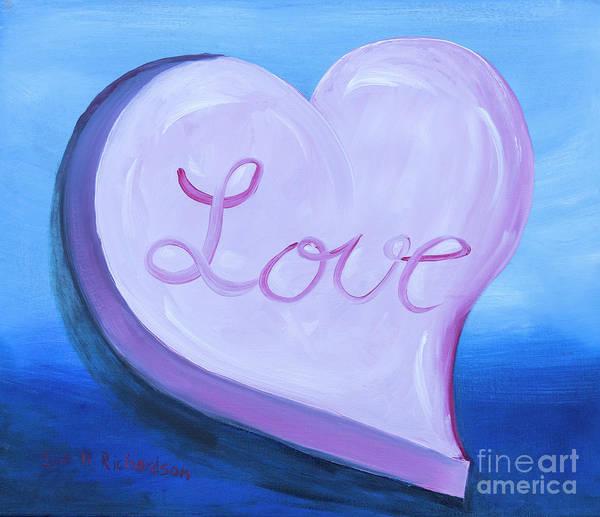 Wall Art - Painting - Candy Valentine Heart by Iris Richardson