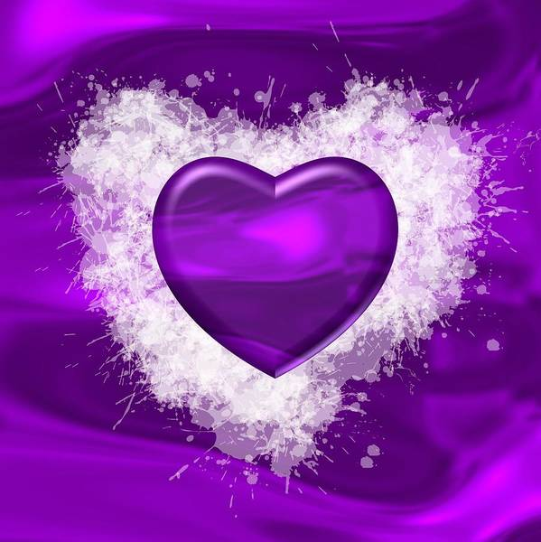 Digital Art - Love Violet Color by Alberto RuiZ