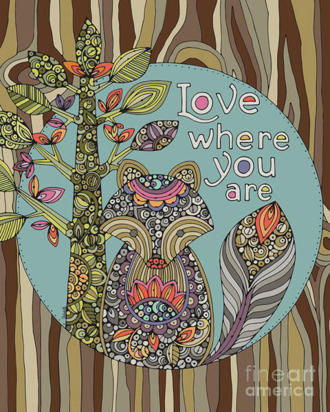 Foxes Digital Art - Love Where You Are by MGL Meiklejohn Graphics Licensing