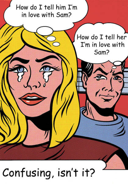 Photograph - Falling In Love With Sam by Doc Braham - In Tribute to Roy Lichtenstein