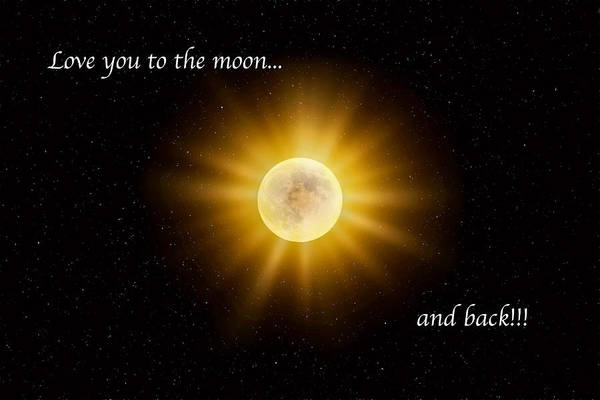 Photograph - Love You To The Moon by Lynn Bauer