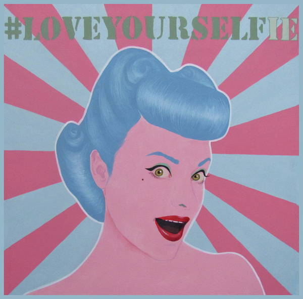 Painting - Love Your Selfie by Jovana Kolic