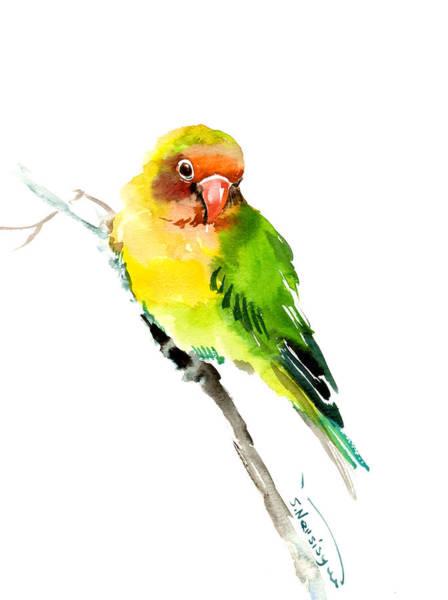 Lovebirds Painting - Lovebird by Suren Nersisyan
