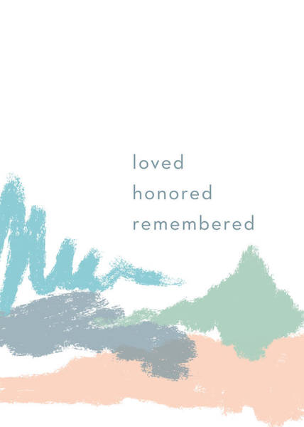 Child Mixed Media - Loved Honored Rememberd- By Linda Woods by Linda Woods