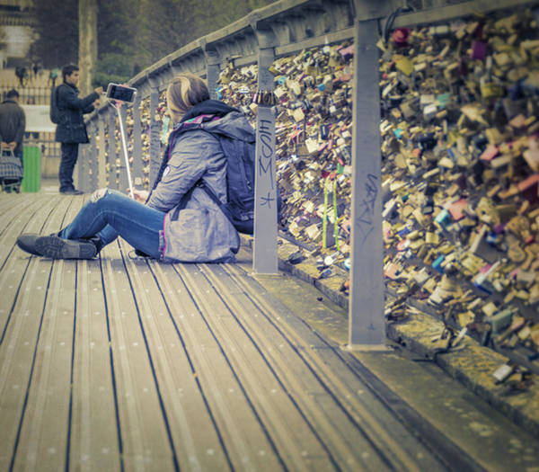 Photograph - Lovelocks And A Selfie by Joan Carroll