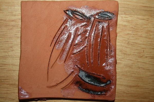 Ceramic Art - Lovelorn - Tile by Gloria Ssali