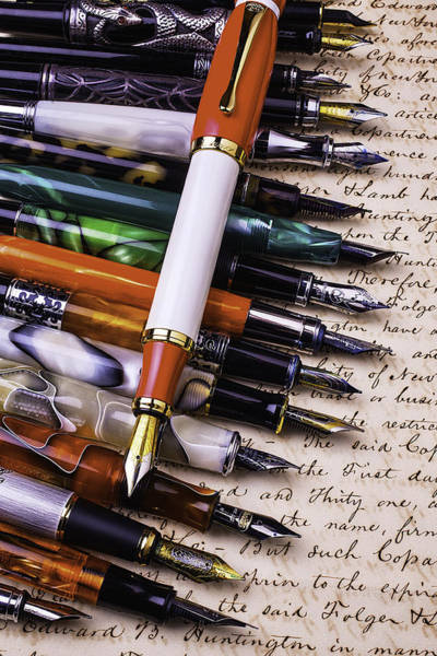 Ink Pen Photograph - Lovely Fountain Pens by Garry Gay