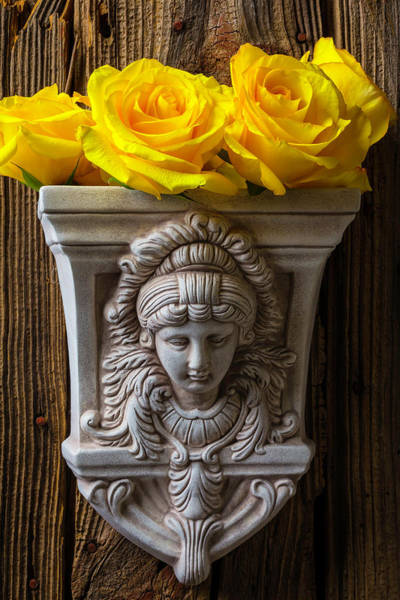 Wall Art - Photograph - Lovely Goddess Vase With Roses by Garry Gay