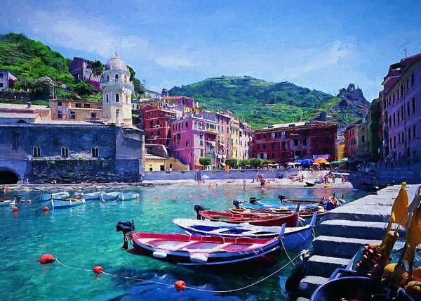 Digital Art - Lovely Liguria by Charmaine Zoe