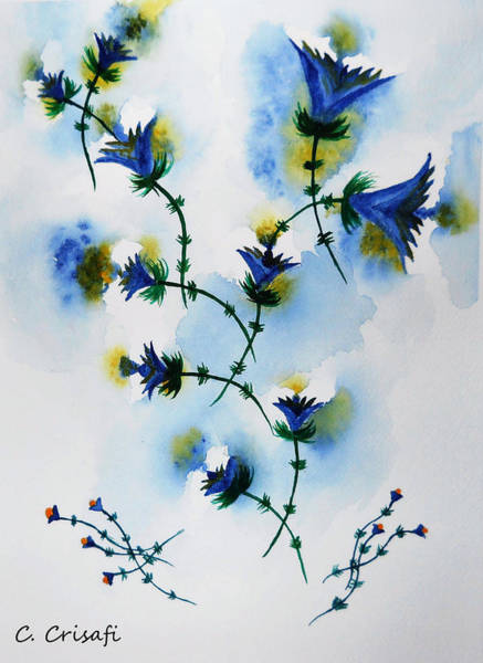 Painting - Lovely Lolita's In Blue by Carol Crisafi