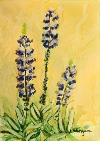 Painting - Lovely Lupines by Laurie Morgan