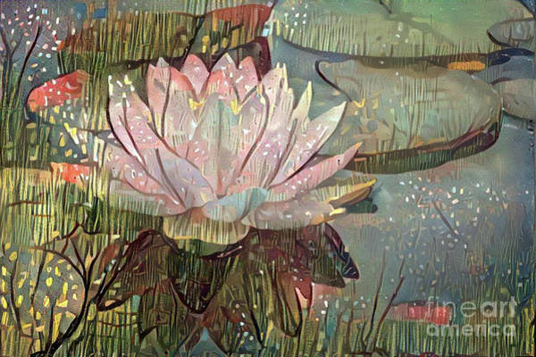 Lilly Pad Digital Art - Lovely Waterlilies 5 by Amy Cicconi