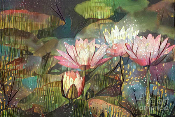 Lilly Pad Digital Art - Lovely Waterlilies 7 by Amy Cicconi